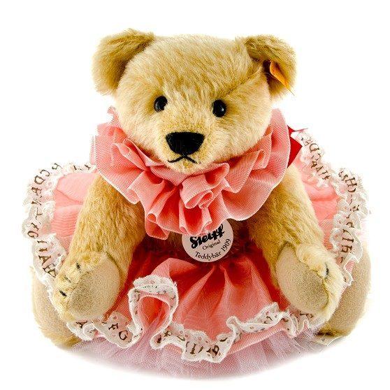 classic 1909 teddy bear pink