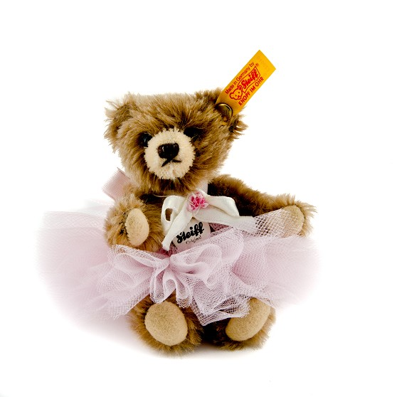 miniature pink ballerina teddy bear